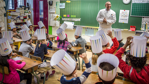 Lecon-de-gout-en-classe Guillaume Gomez